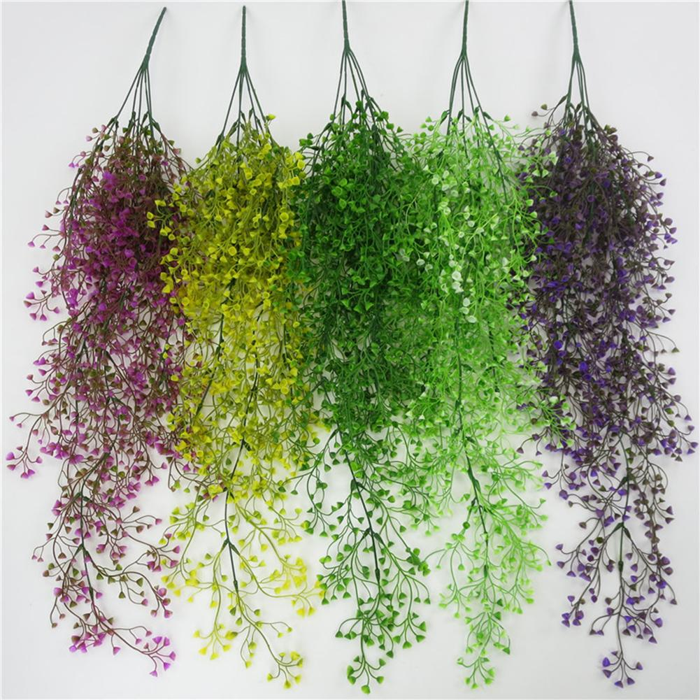 Simulation Artificail Plants Wall Decor Basket Orchid Rattan Plastic Fake Flower Artificial Plant Decorations