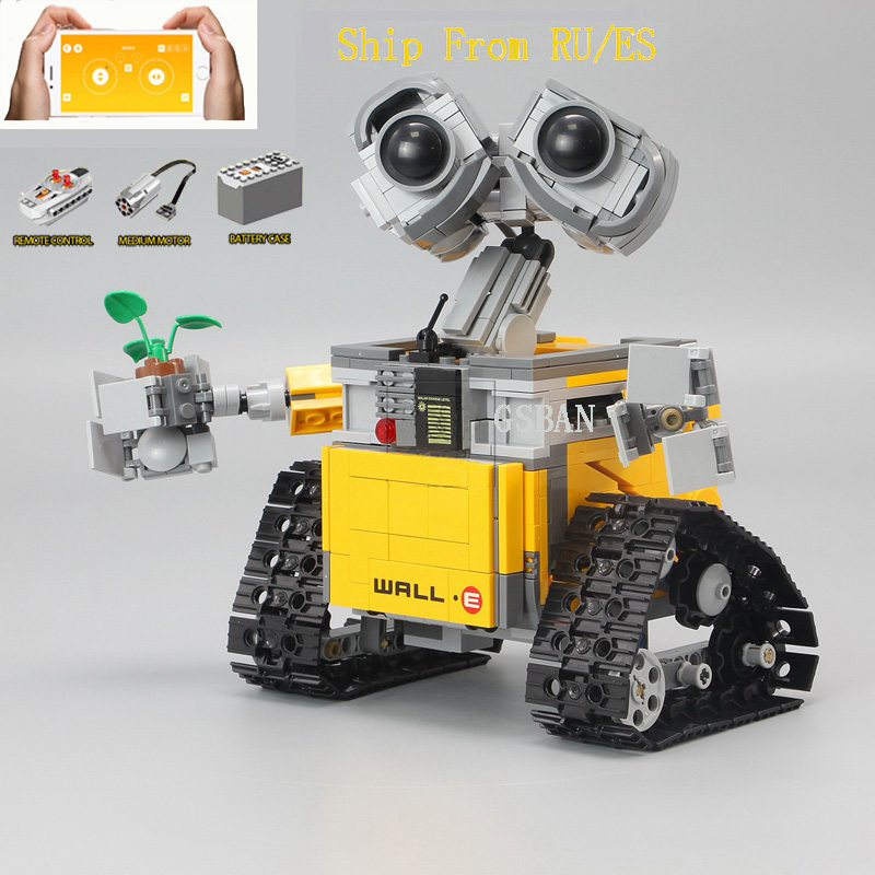 16003 Technic RC <font><b>Legoing</b></font> Creator Idea Robot WALL E Movie Figures Building Blocks Children Toys Compatible <font><b>21303</b></font> <font><b>Legoed</b></font> EVE WELLE image