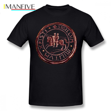 Templar T-Shirt Knights Seal Symbol T Shirt Graphic 100 Cotton Tee XXX Men Short Sleeve Classic Cute Tshirt