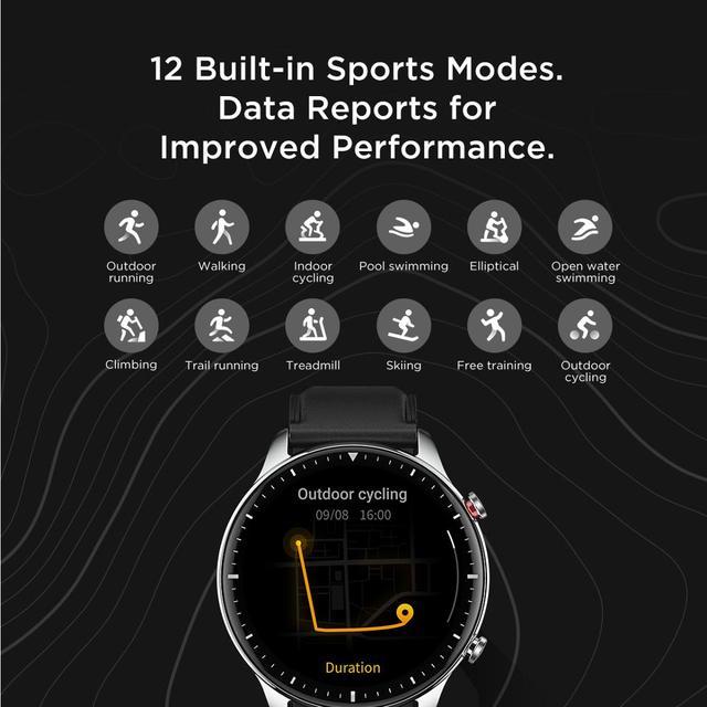Смарт-часы Amazfit GTR 2, 14 дней без подзарядки, 1,39 дюйма, AMOLED, 326ppi