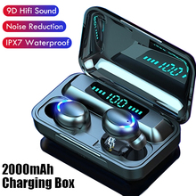 TWS Bluetooth Earphones Wireless Headphones Touch Control LED Display With Micro