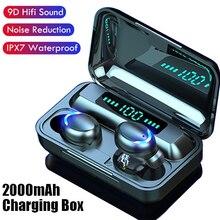 TWS Bluetooth אוזניות אלחוטי אוזניות LED תצוגה עם טעינת מקרה מיקרופון ספורט עמיד למים אוזניות אוזניות אוזניות