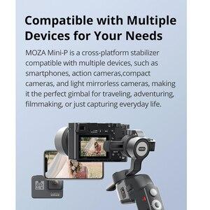 Image 4 - Стабилизатор для смартфона Moza Mini P, 3 осевой ручной шарнирный стабилизатор для iPhone, Gopro hero 6, 8, Экшн камера, Sony A6400, a7, PK, G6 Max