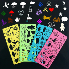 Buy 4PCS Stencils for Painting Children's Drawing Stencil Tool School Supplies Stationery 14.5*7 cm directly from merchant!