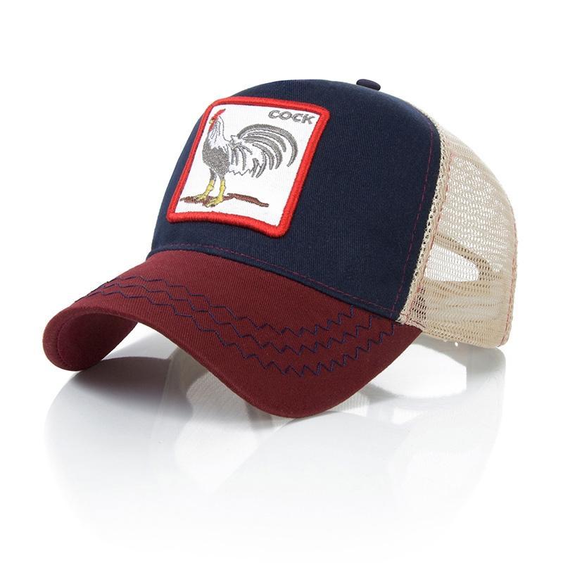 Fashion Animals Embroidery Baseball Caps Men Women Snapback Hip Hop Hat Summer Breathable Mesh Sun Gorras Unisex