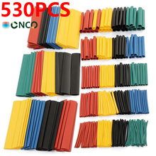 530pcs/Set Heat Shrink Tube, Polyolefin Tube Cable Kit,Insulated Sleeving Tubing Wrap Wire Cable Sleeve heat shrink tubing