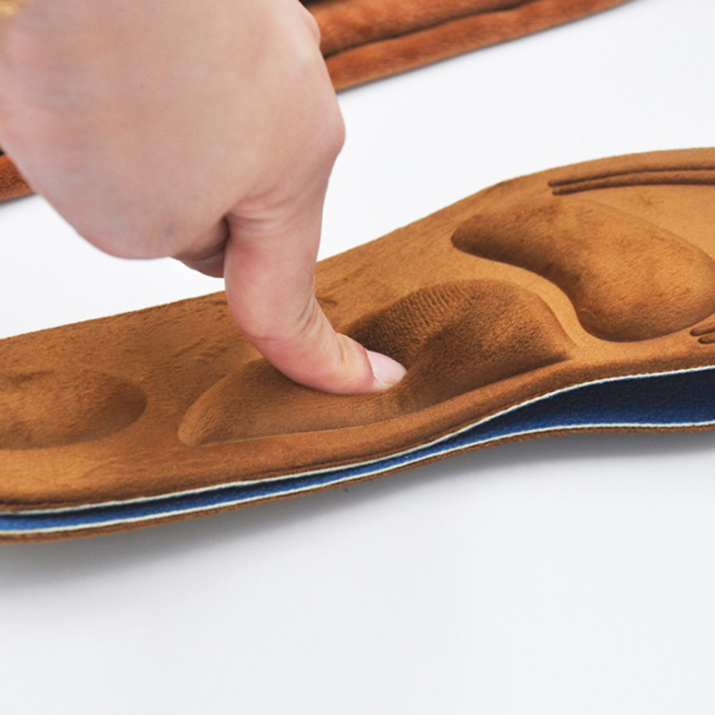 2019 4D Suede Memory Foam Orthotic Insole Arch Support Orthopedic Insoles Shoes Flat Foot Feet Care Sole Shoe Orthopedic Pads