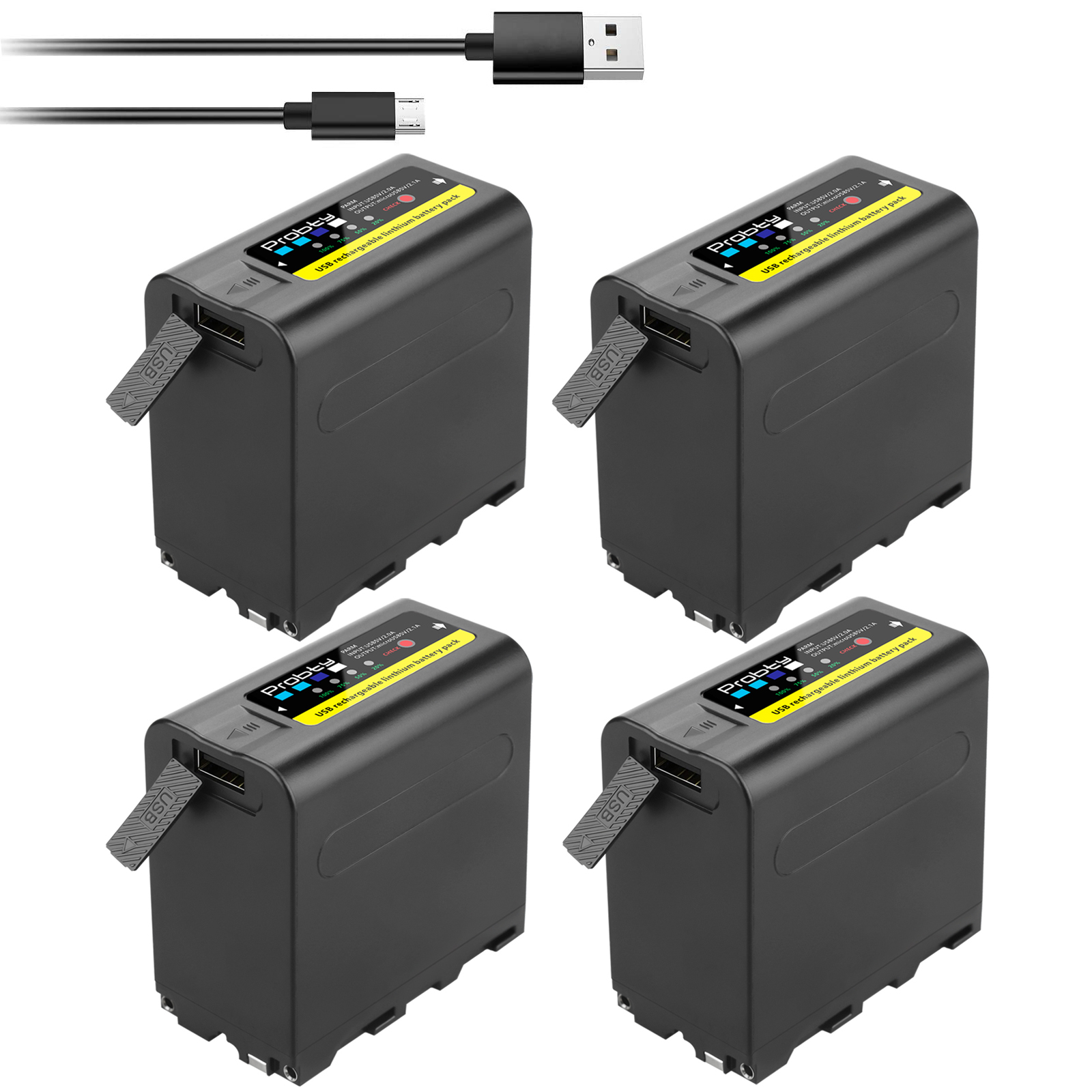 Led-Power-Indicator Np-F970-Battery Usb-Output 8800mah with for Sony Np-f960/Np-f950/Np-f930/..