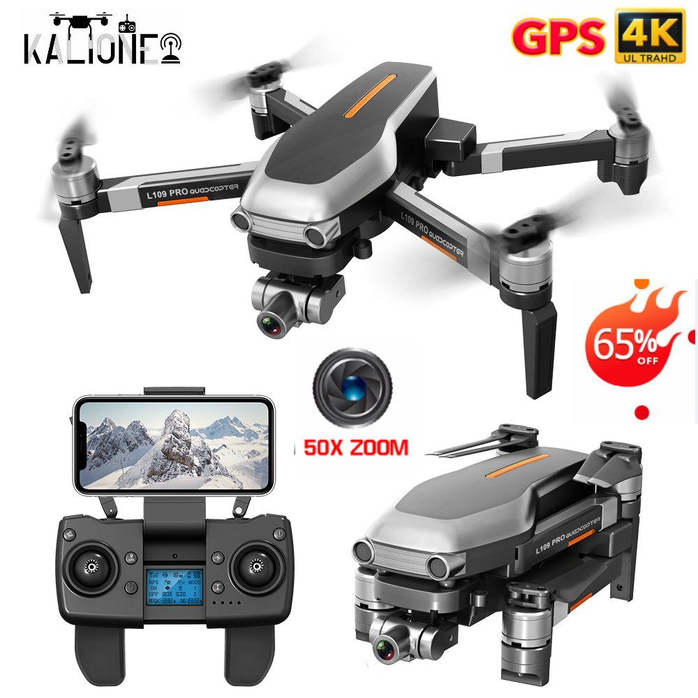 L109 PRO GPS <font><b>Drone</b></font> 4K ZOOM Camera Two-Axis Stable Gimbal Professional <font><b>5G</b></font> WIFI FPV RC Quadcopter Helicopter SD card VS X35 SG906 image