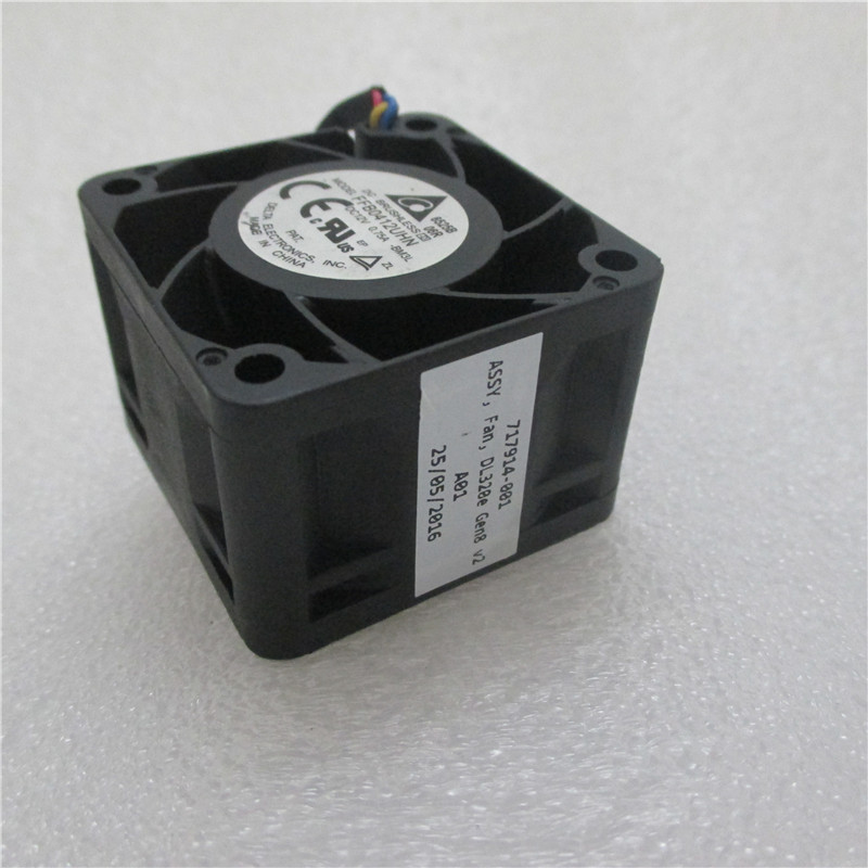 Original 717914-001 725264-001 FFB0412UHN-BM3L For DL320e Gen8 V2 717914-001 0.81A 12V Fan Cooling Working