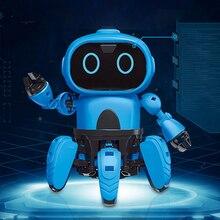 Пульт дистанционного управления Собранный датчик жестов для детей DIY подарки игрушка электрический робот инфракрасный избегание препятствий дети