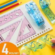 Creative Soft Ruler 15cm/20cm Ruler Primary School Students Measuring Tool Metric Ruler Set Children Stationery School Supplies