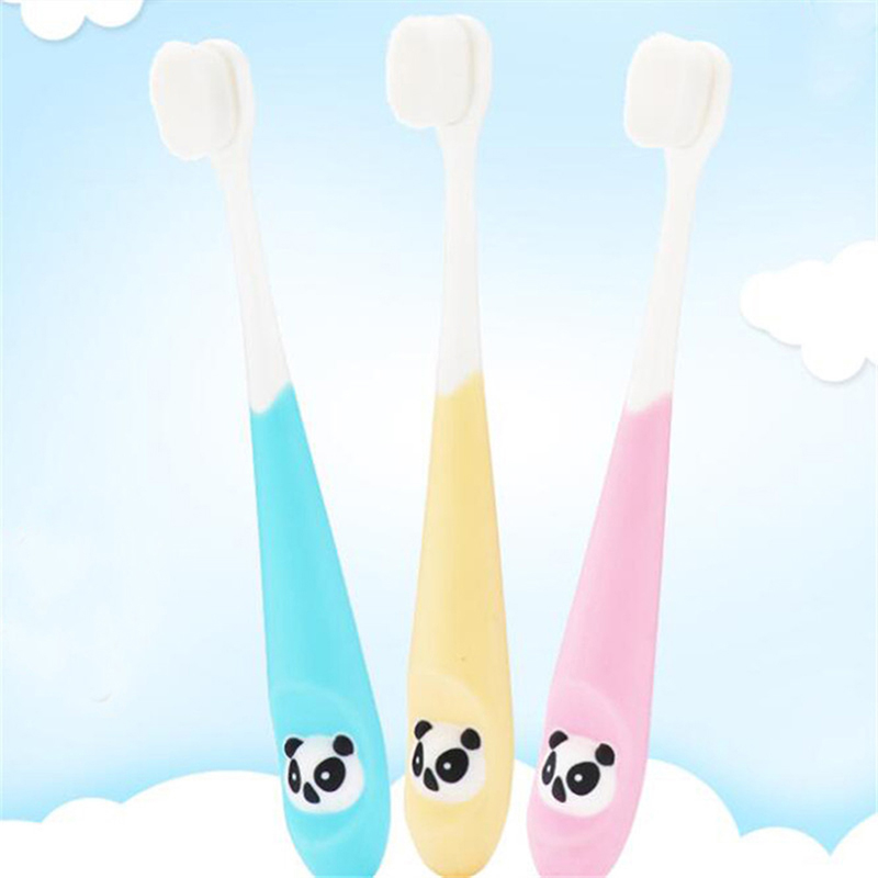 Baby Cute Soft-bristled Toothbrush For Children Teeth Cartoon Panda Training Toothbrushes Baby Dental Care Tooth Brush