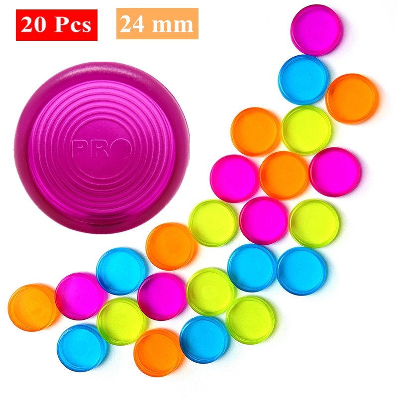 20Pcs 24mm Candy Color Mushroom Hole Disc Binders For Notebooks/Planner Diy Loose Leaf  Binding Rings Discbound Discs CX19-004