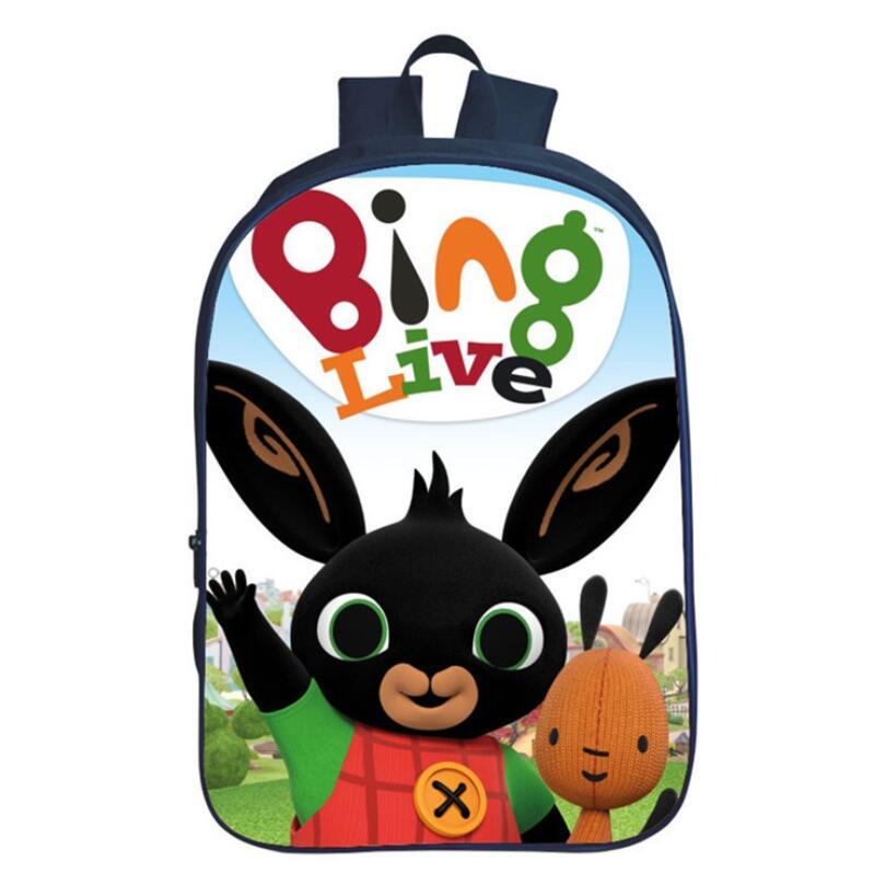 Children's Schoolbag Girls Cartoon Bing Bunny Printing School Bag Kwaii Student Backpacks School Bags For Teenage Boys Child