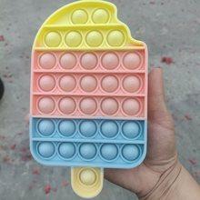 Pulpit zabawy alfabet lody w kształcie Push Bubble POP It silikonowe wielokrotnego użytku zabawki Stress Reliever Fidget wycisnąć pokładzie dzieci prezent