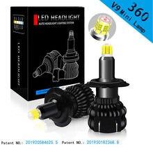 100w 18000lm h11 h7 9005 9006 h4 h1 12 lados 3d led mini alta potência da luz do carro lâmpadas 360 graus
