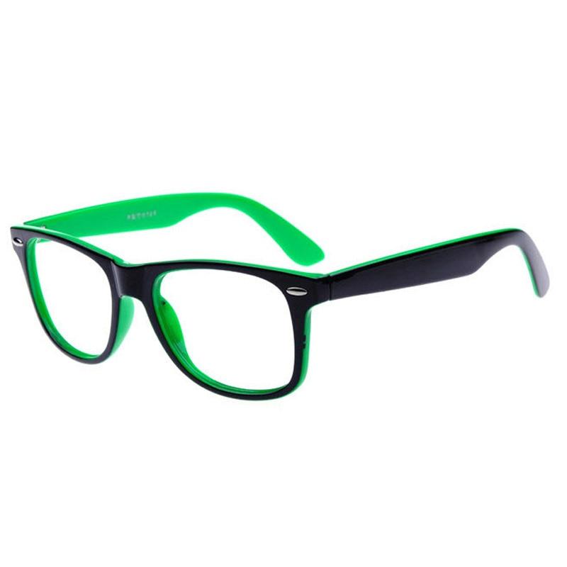 No Lens Glasses Frame Men Women PC Decoration Eye Glasses Rivets Spectacle Eyeglasses Frames Black Red Blue Orange Green White