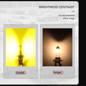 Image 5 - 2x3000 k זהב רכב Led פנס אור CSP שבב H1 H4 היי/נמוך 9003 HB2 H7 H8 h11 9005 HB3 9006 HB4 אוטומטי ערפל LED הנורה 9600LM 72W