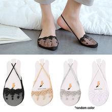 Летние женские носки невидимки с низким кружевом Нескользящие