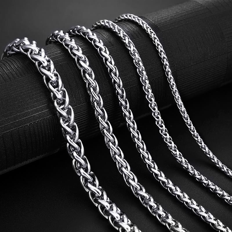 Collana a catena in acciaio inossidabile per uomo donna cordolo catena a maglia cubana oro nero colore argento Punk girocollo moda regalo gioielli maschili 2