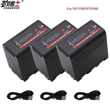 3PCS NP F960 NP-F970 NP-F960 NP-F980 NP F980 NP F970 Power Display Batteries for SONY NP F960 HVR-HD1000 HVR-HD1000E HVR-V1J фото
