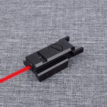 цена на Mini Red Dot Laser Sight Tactical Hunting Optics Sight For Glock 17 19 22 23 31 32 Pistol Gun Sight Scope 20mm Rail
