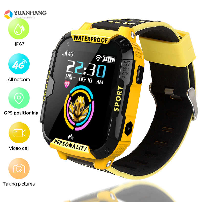 IP67 Waterproof Smart 4G Remote Camera GPS WI-FI Kid Child Student Wristwatch SOS Video Call Monitor Track Location Phone Watch