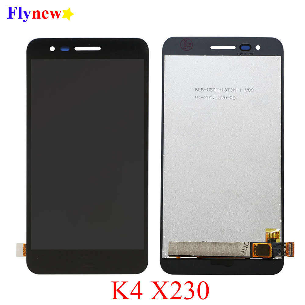 Black NA Replacement LCD Display +Touch Screen for LG LCD Screen and Digitizer Full Assembly for LG K4 2017 // X230 // X230DSF FURUMO Color : Black