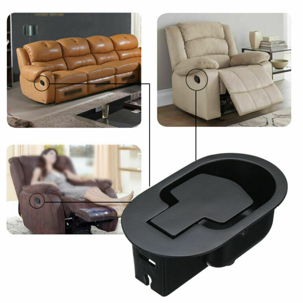 Chair Release Lever Replacement Cable Easy Install Hardware Smooth Metal Recliner Handle Set Wide Use Sofa Home Trigger