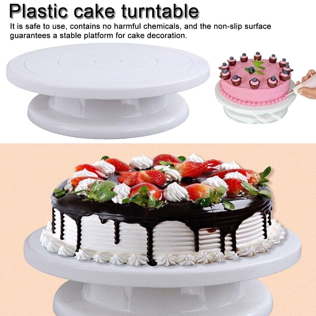 1 шт. Кухонные гаджеты 28 см пластиковая подставка для торта Поворотная подставка для торта для украшения поворотного стола противоскользящая круглая подставка для торта Поворотная сковорода|Формы для тортов| | АлиЭкспресс - Принадлежности для выпечки