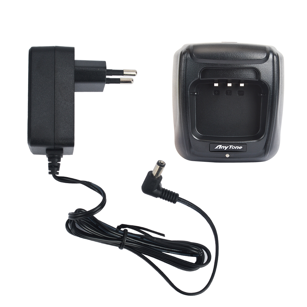 Walkie Talkie Charger Anytone AT-D878UV Plus Desktop Charger QBC-45L With AC Adapter SAW12-120-1000GD