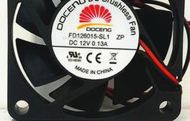 For Original Authentic DOCENG 6015 FD126015-SL1 DC12V 0.13A DC Brushless Fan Free Shipping