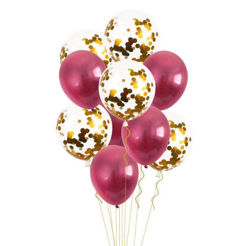 10Pcs 12inch Metallic Latex Balloons Confetti Air Balloon Inflatable Ball For Birthday Wedding Decoration Helium Ballon Supplies in Ballons Accessories from Home Garden