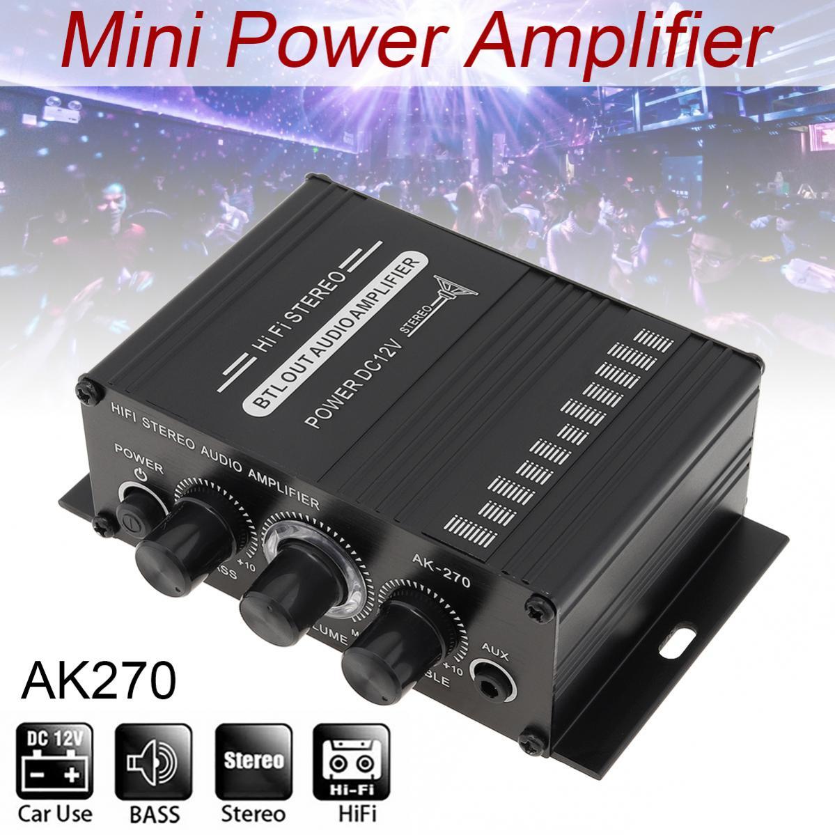 Car  Amplifier Audio Karaoke Home Theater Amplifier 2 Channel Bluetooth Class D Amplifier USB/SD AUX Input