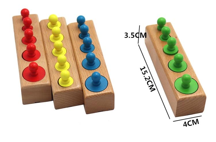 Головоломка Монтессори с цилиндрической розеткой, игрушка для обучения развитию ребенка, дошкольные Развивающие деревянные игрушки для детей 3