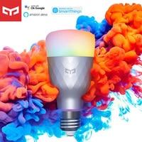 Yeelight-bombilla LED inteligente 1SE E27, 6W, RGB, Control de voz inalámbrico, luz colorida, 100-240V, funciona para Asistente de Google, SmartThing, Alexa