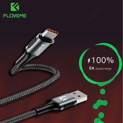 FLOVEME 5A rodzaj usb C kabel Supercharge ładowania USB C ładowanie kabel do huawei P20 P30 Pro 1.1M szybkie ładowanie ładowarka typu USB C drutu|Kable do telefonów komórkowych|Telefony komórkowe i telekomunikacja -