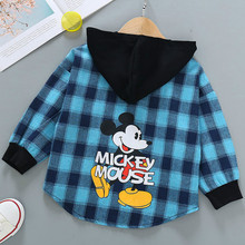 Children's Spring and Autumn Shirts Boys and Girls Thin Long-sleeved Shirts 2020 New Children's Cardigan Plaid Casual Shirts