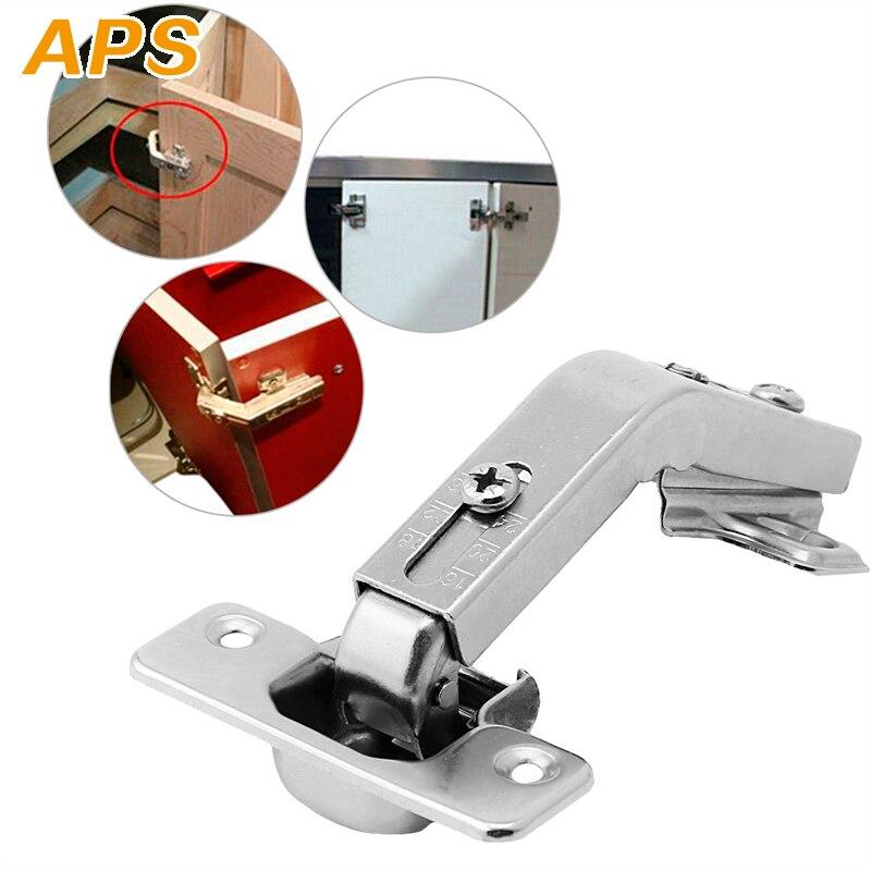 135 Degree Corner Folded Cabinet Door Hinges Kitchen Bathroom Cupboard Two Holes Nickel-plated Iron Furniture Hinge