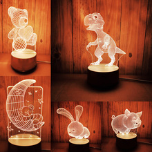 Desk Led-Night-Light Home-Decoration Lovely for Kids Xmas Table Gifts Touch-Control Remote