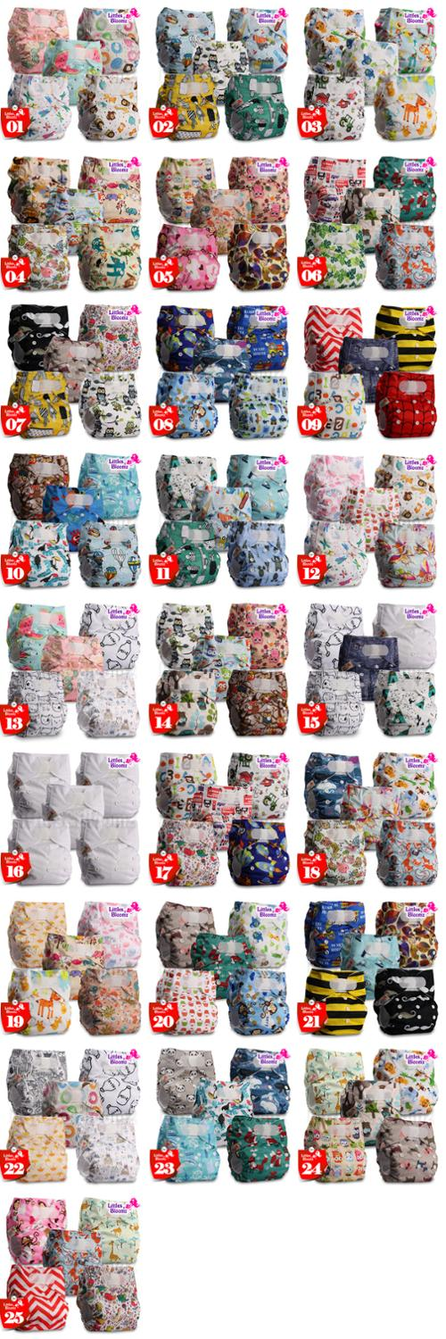 Image 2 - 5pcs/set STANDARD Hook Loop Reusable Washable Nappy Diaper Cover Wrap Baby,5 nappies/diapers and 5 microfiber inserts in one set-in Baby Nappies from Mother & Kids