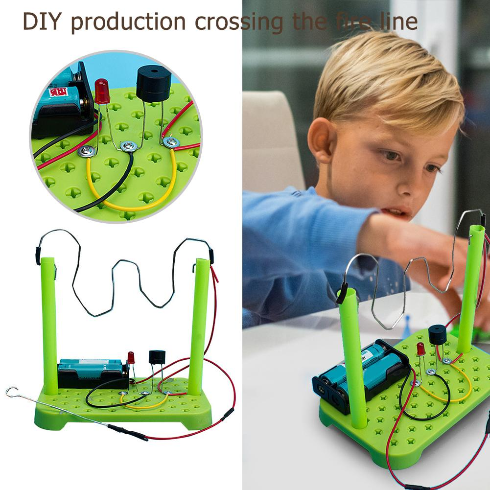 1set DIY Circuit Kit Excellent ABS Electronic Components Physical Science Experiments Intelligence Develop Learning Toys