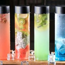 12PCS Plastic Portable Water Bottles Juice Bottles