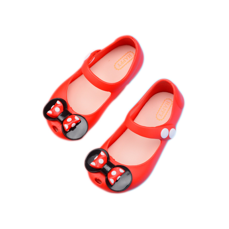 2019 New Girls Summer Trend Soft Jelly Shoes Cartoon Image Cute Minnie Butterfly PVC Material Button Sandals Garden Baby Shoes