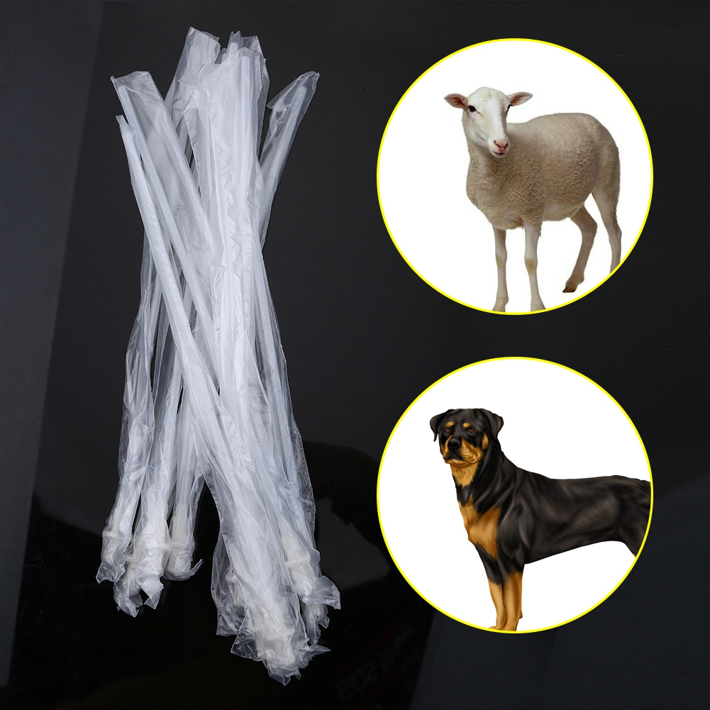 10PCS/Set Disposable Canine Dog Sheep Artificial Insemination Breeding Catheter Tube Sheep Dog Disposable Breed Feed Whelp