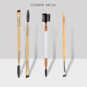 Makeup Brushes Set Double Ended Wood Handle Eyebrow Comb Blending Eyeliner Brush Eyelash Applicator Pincel Beauty Cosmetics Tool