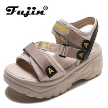 fujin 2020 platform sandals women summer shoes buckle thick