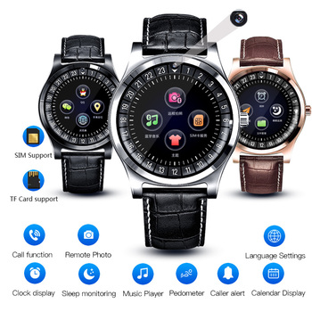 BINSSAW Men Smart Watch sport with Camera Bluetooth SIM SD Card Smartwatch Digital watch for Android Phone  fitness smartwatch