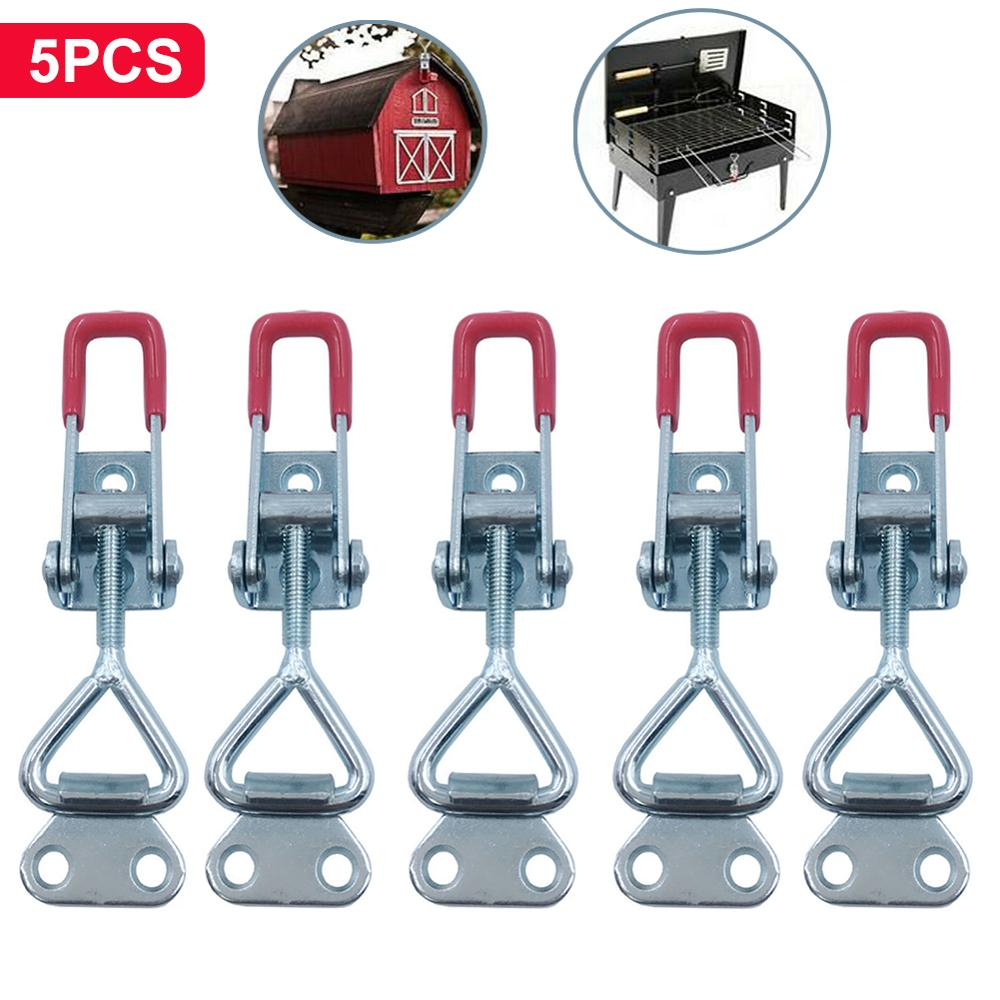 5PCS Toggle Catch Latch Adjustable Cabinet Boxes Case Chest Catch Metal Toggle Clamp Latch Hasp Heavy Duty 150KG/330lbs
